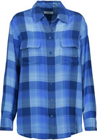 Equipment Signature checked washed-silk shirt