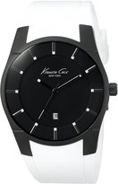 Kenneth Cole White Strap Black Dial Men's Watch #KC1627