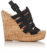 Barneys New York WOMEN'S CAGED PLATFORM WEDGE SANDALS