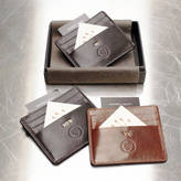 Maxwell Scott Bags Personalised Leather Groomsman's Gift Card Holder