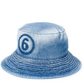 MM6 MAISON MARGIELA Logo Denim Bucket Hat