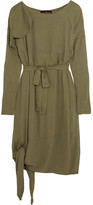 Vivienne Westwood Balloon Frayed Crepe Dress - Army green