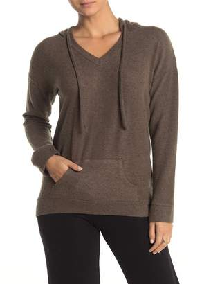 Theo and Spence Yummy Brushed Knit Pullover Hoodie