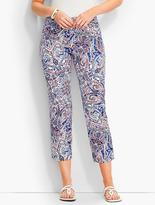 Talbots The Perfect Crop - Curvy Fit/Paisley Scrolls