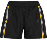 P.E Nation - On The Attack Striped Mesh-paneled Shell Shorts - Black
