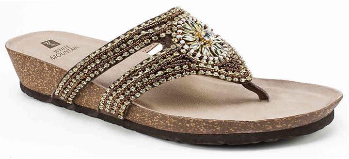 White Mountain Busy Wedge Sandal - Women's