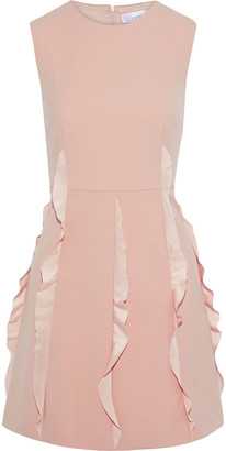 RED Valentino Ruffled Crepe De Chine-trimmed Cady Mini Dress