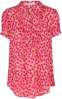 Libelula Delphine Top in Hearty Print Pink and Orange