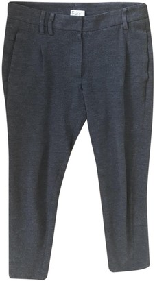 Brunello Cucinelli Grey Wool Trousers