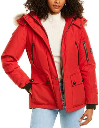 Pendleton Bachelor Medium Leather-Trim Wool-Blend Rain Jacket