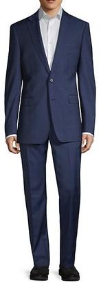Calvin Klein Slim-Fit Plaid Suit