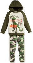 Nannette 2-Pc. Dinosaur Hoodie & Pants Set, Little Boys (2-7)