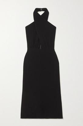 Reformation + Net Sustain Carlie Cutout Crepe Halterneck Midi Dress - Black