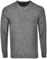 HUGO BOSS Black Igus Knit Jumper Grey