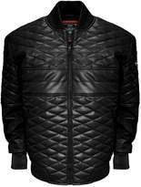 Franchise Club Men's Franchise Club Double Diamond Lambskin Leather Bomber Jacket