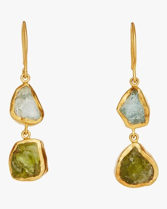 Pippa Small Amorphous Double Drop Earrings