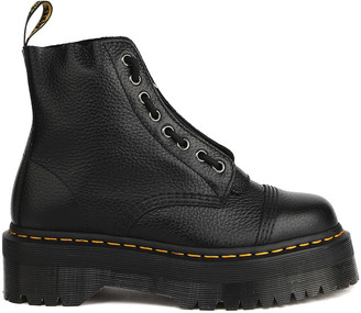 Dr. Martens Platform Boots In Tumbled Leather