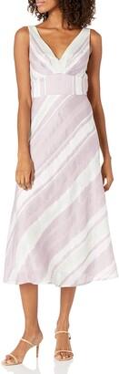 Rebecca Taylor Women's Sleeveless Stripe Vneck Dress