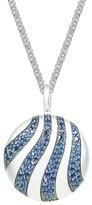 Effy Jewelry Effy 925 Sterling Silver Blue Sapphire Circle Pendant, 4.75 TCW
