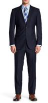 English Laundry Black Plaid Two Button Notch Lapel Suit
