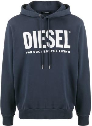 Diesel Logo-Print Long-Sleeved Hoodie