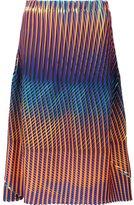 Issey Miyake printed midi skirt - women - Polyester - 2