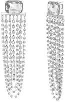 Steve Madden Clear Crystal Glass Drop Earrings