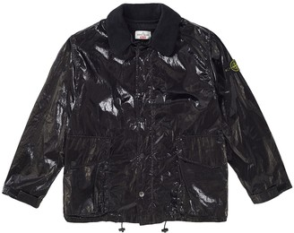 Supreme X Stone Island Black Silk Jacket for Women