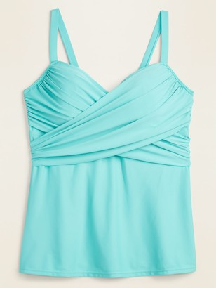 Old Navy Wrap-Front Secret-Slim Underwire Plus-Size Tankini Swim Top
