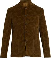 Massimo Alba Floral-embossed cotton-corduroy blazer