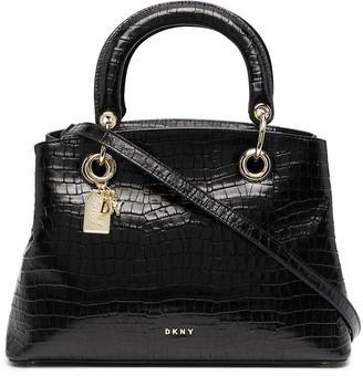DKNY Tonny crocodile-effect satchel