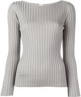 Eleventy ribbed top with scoop neckline - women - Silk - L
