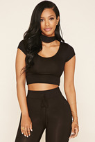 Forever 21 FOREVER 21+ Hooded Crop Top