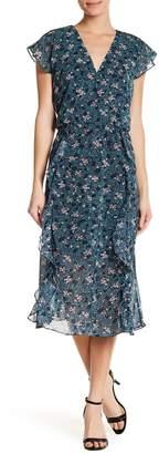 Joe Fresh Floral Print Ruffled Maxi Dress