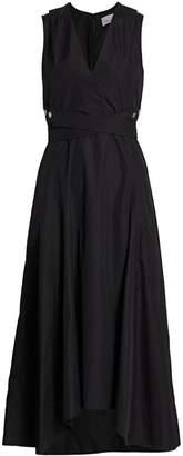 3.1 Phillip Lim Poplin Wrap Midi Dress