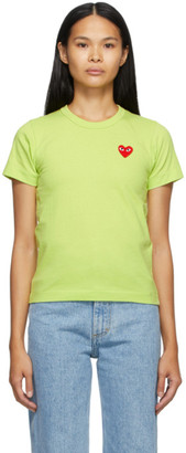 Comme des Garcons Green Heart Patch T-Shirt