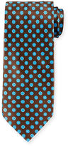 Stefano Ricci Neat Circle-Print Silk Tie