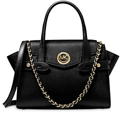 MICHAEL Michael Kors Carmen Medium Belted Leather Satchel