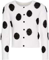 Alice + Olivia Serene appliquéd wool-blend cardigan