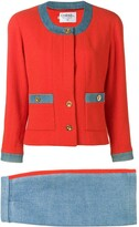 Chanel Pre Owned two-tone skirt suit