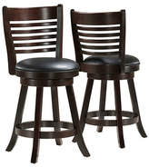 Monarch Two-Piece Slat-Back Counter-Height Stools