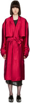 Haider Ackermann Pink Twill Trench Coat