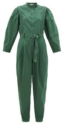 Sea Clara Belted Cotton-blend Jumpsuit - Womens - Green