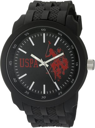 U.S. Polo Assn. Sport Men's USP9038 Analog Display Analog Quartz Black Watch
