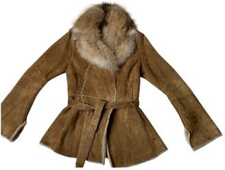 Castiglioni Camel Leather Coats