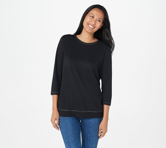 Quacker Factory Anytime 3/4 Sleeve Top