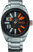 BOSS ORANGE Mens Qa, S/S Tonneau Case, Black Dial, S/S Bracelet