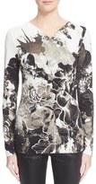 Roberto Cavalli Floral Print Jersey Blouse
