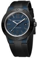 Bvlgari Diagono Magnesium & Rubber Strap Watch