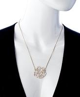 Blu Bijoux Gold Swirly Love Necklace